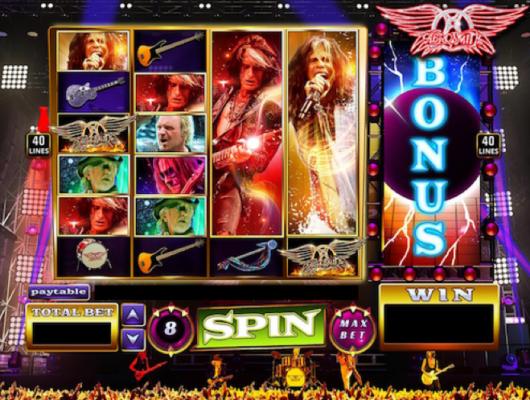 Aerosmith, slot, game, zynga, music