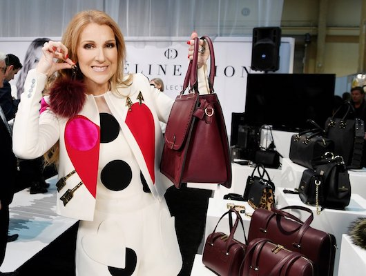 Celine Dion, handbag, collection, holiday video
