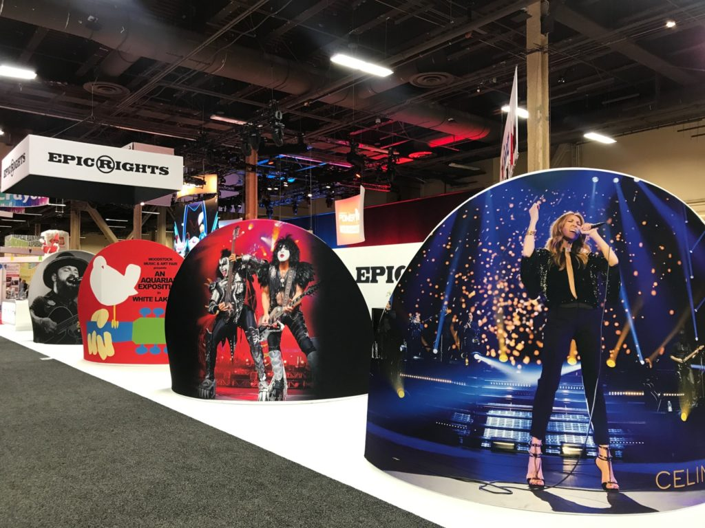 epic rights, licensing expo, celine dion, kiss, woodstock