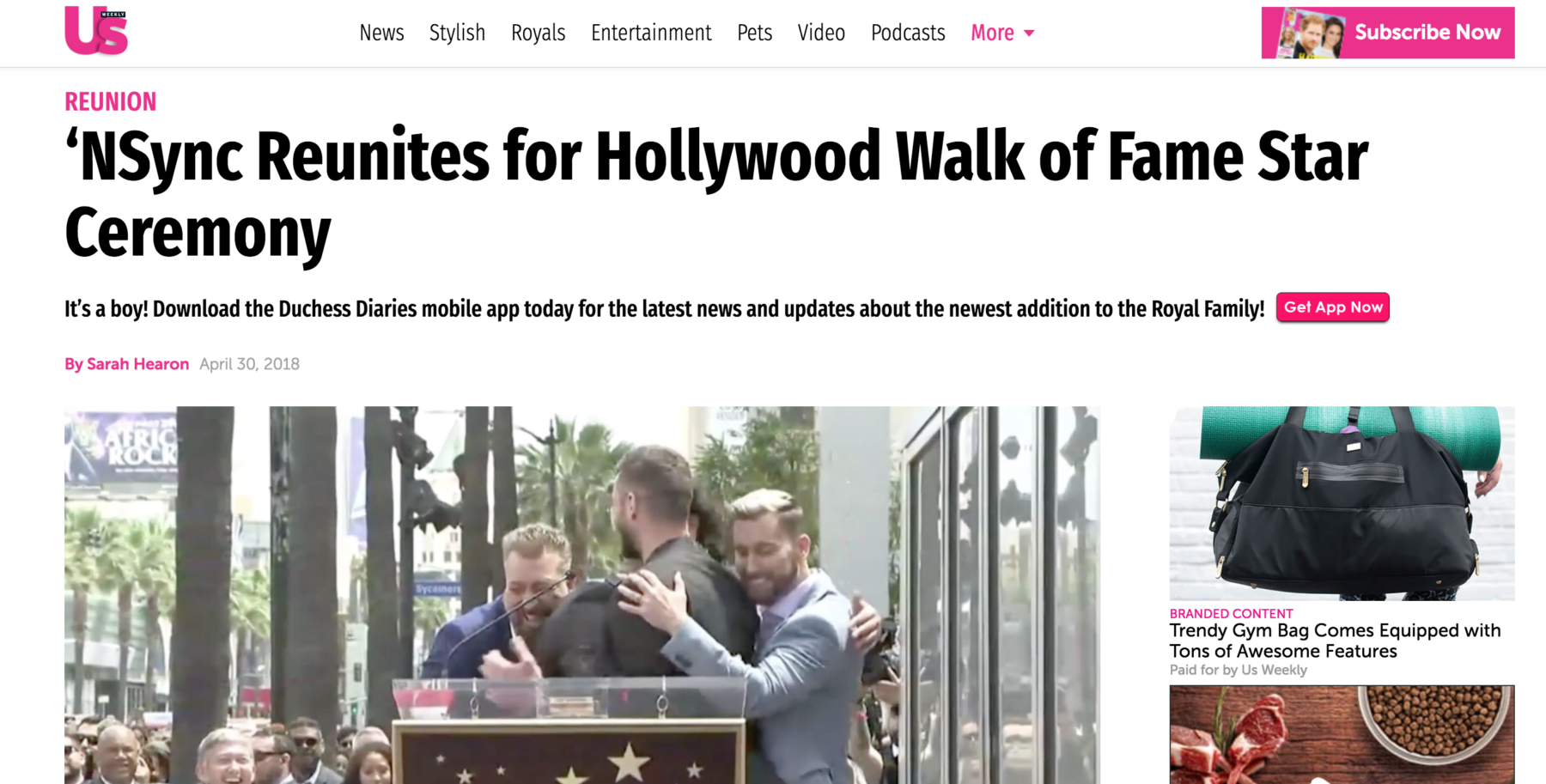 NSYNC's Epic Walk of Fame Ceremony - Epic Rights